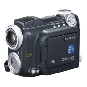 Samsung SCD6040 DuoCam MiniDV Camcorder w/10x Optical Zoom & 4.1 MP Di