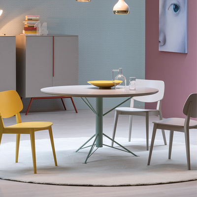 Italian Dining Table | Novamobili Febo Round Dining Table