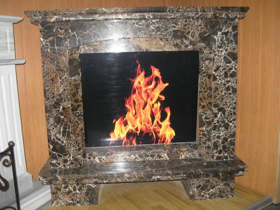 MARBLE FIREPLACE, Emperador Gold