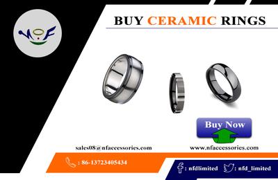 Ceramic Mens Rings