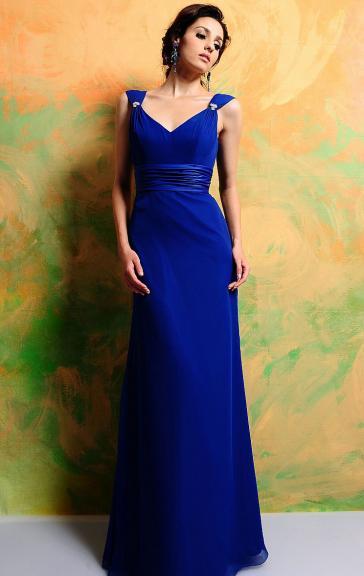 unique long bridesmaid dress