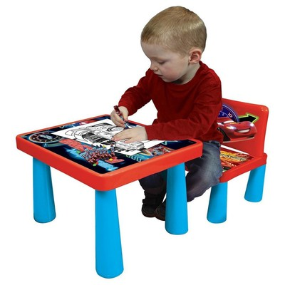 Disney Card Kids Sit & Colour Drawing Table Chair