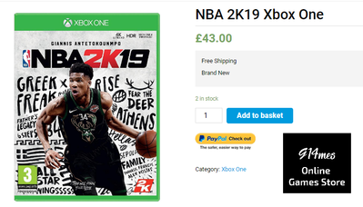 Buy NBA 2K19 Xbox One Video Game at Best Price