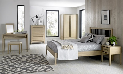 Bentley Designs Rimini Aged and Weathered Oak Bedroom | Beds, Wardrobe
