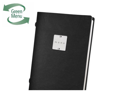 ECO Black 4RE 2/3RD A4 Portrait Menu Covers & Folders