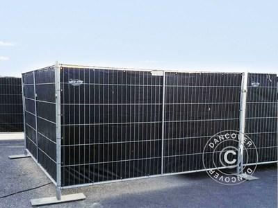 Fence tarpaulin 1,8x3,4m, PE 150 g/m², Black