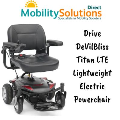 Get Drive DeVilBliss Titan LTE Lightweight Electric Powerchair Online
