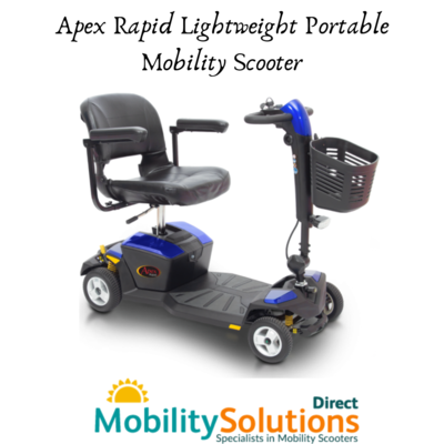 Purchase Apex Rapid (with CTS Suspension) Lightweight Mobility Scooter