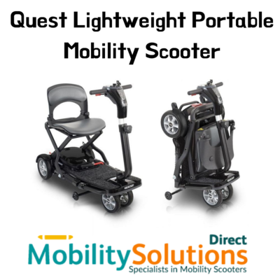 Buy Quest Lightweight Portable Mobility Scooter for Active Lifestyle