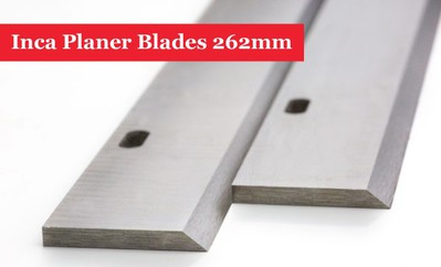 Inca Planer Blades Knives 262mm Long with 2 Slots