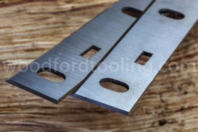 210mm Woodstar PT85 HSS SLOTTED Planer Blades for Woodstar Planing mac
