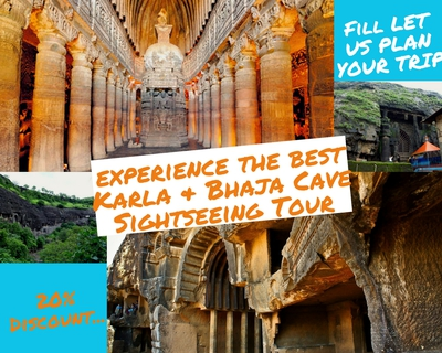 Day trip to Karla & Bhaja Caves Sightseeing Tour
