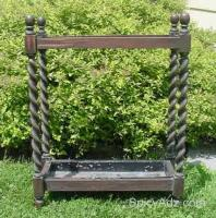 Antique Barley Twist Umbrella Cane Stand - $75