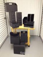 Black Faux Leather 11pc office organizer set - $50 (Auburn, alabama)