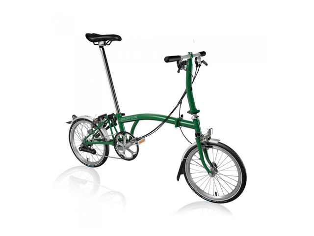 BROMPTON STEEL S6L FOLDING BIKE WITH MUDGUARDS (World Racycles) - 1