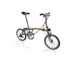 Brompton Steel/Titanium S2E Folding Bike with Front Carrier Block (World Racycles)