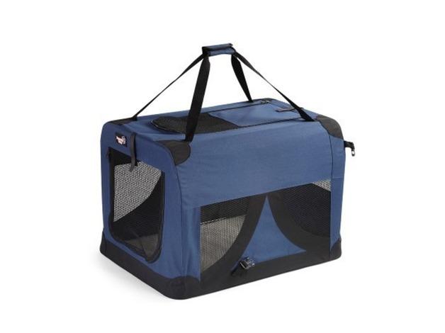 Extra Large Portable Soft Pet Dog Crate  dark blue 100.0cm x 68.0cm x 68.0cm V.G.C in Aberdare