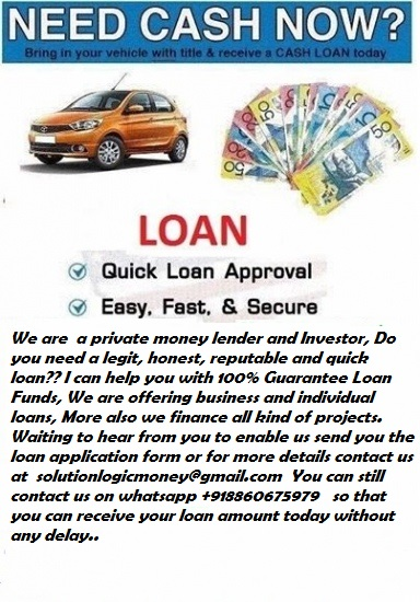 We offer both personal and business loan (Communities - Services Offered)