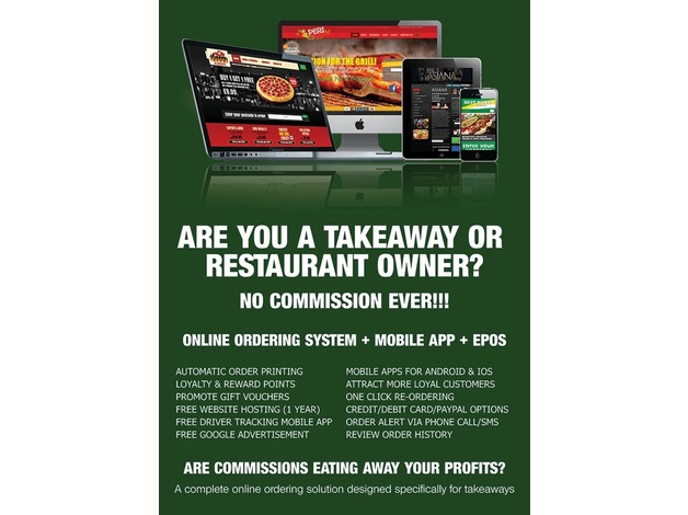 Online Food Ordering Website + Mobile App + Epos System in Bradford