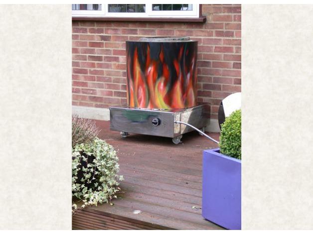 Decorated  Domestic Tandoor Clay Oven Garden Clayoven LPG gas Tandoori Clay Oven in Brent