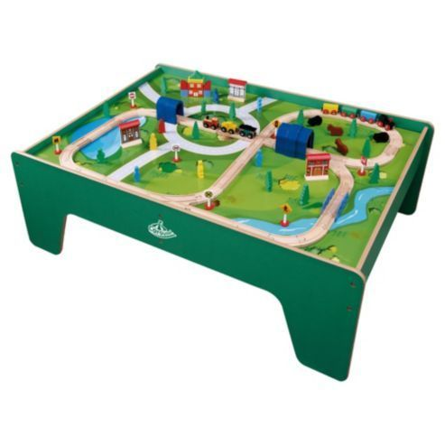 wooden Train Table and train set. in  Kingswood