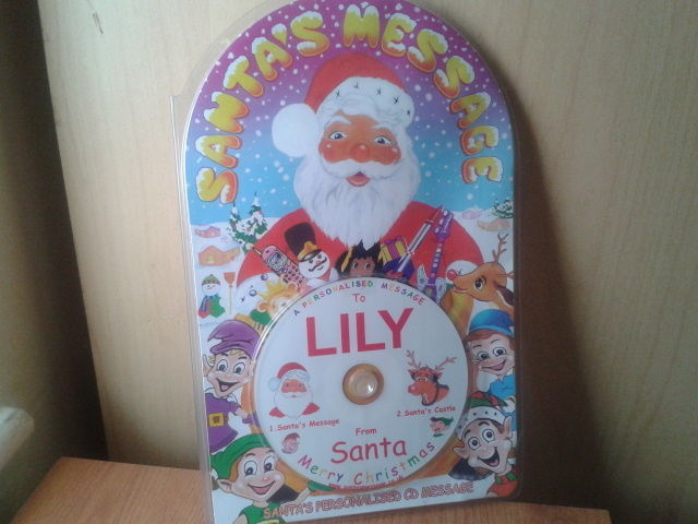 New personalised santa message CD-Lily in  Little Stoke