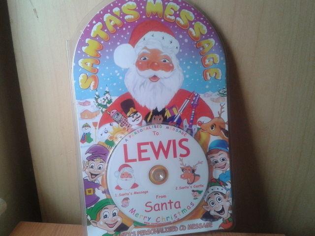 New personalised santa message CD-Lewis in  Little Stoke
