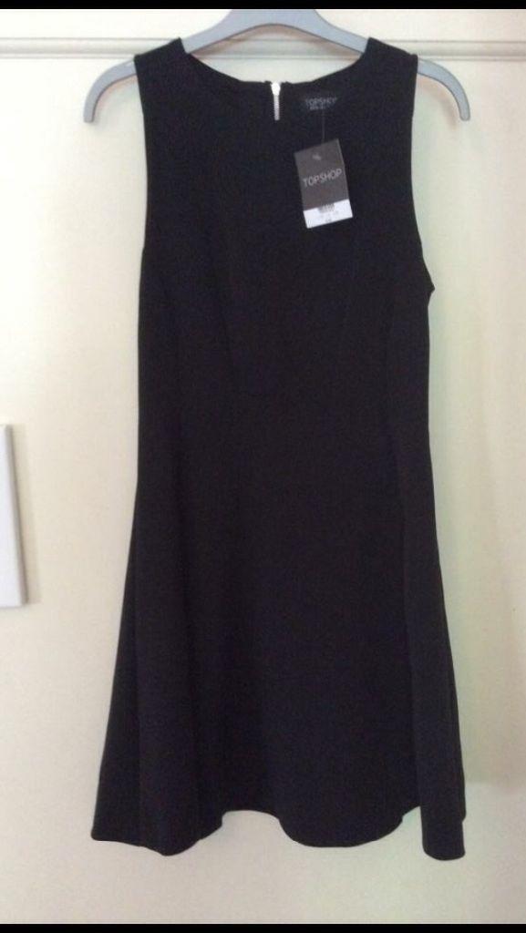 BN Top shop black skater style dress sz 10 in  Hanham