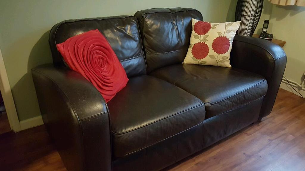 Free 2 seater leather sofa in 