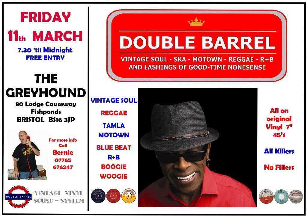 FRIDAY 11th MARCH - 60s 70s SOUL / REGGAE / MOTOWN / SKA with DOUBLE BARREL - FISHPONDS in  Fishpon