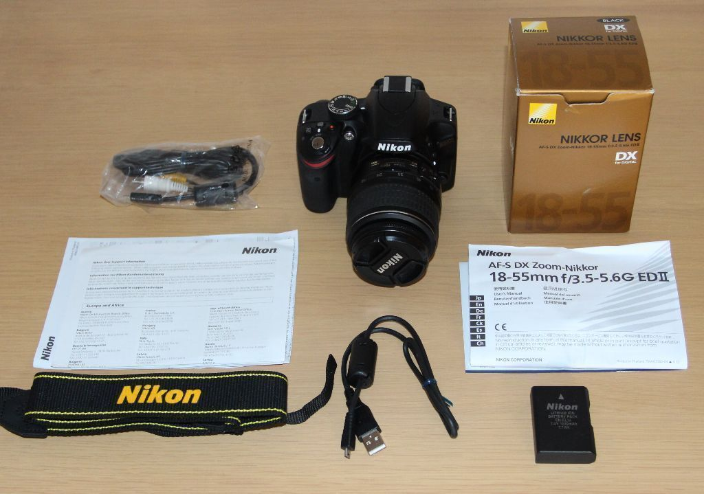 Nikon D3200 Digital SLR Camera with 18-55mm Kit Lens in 