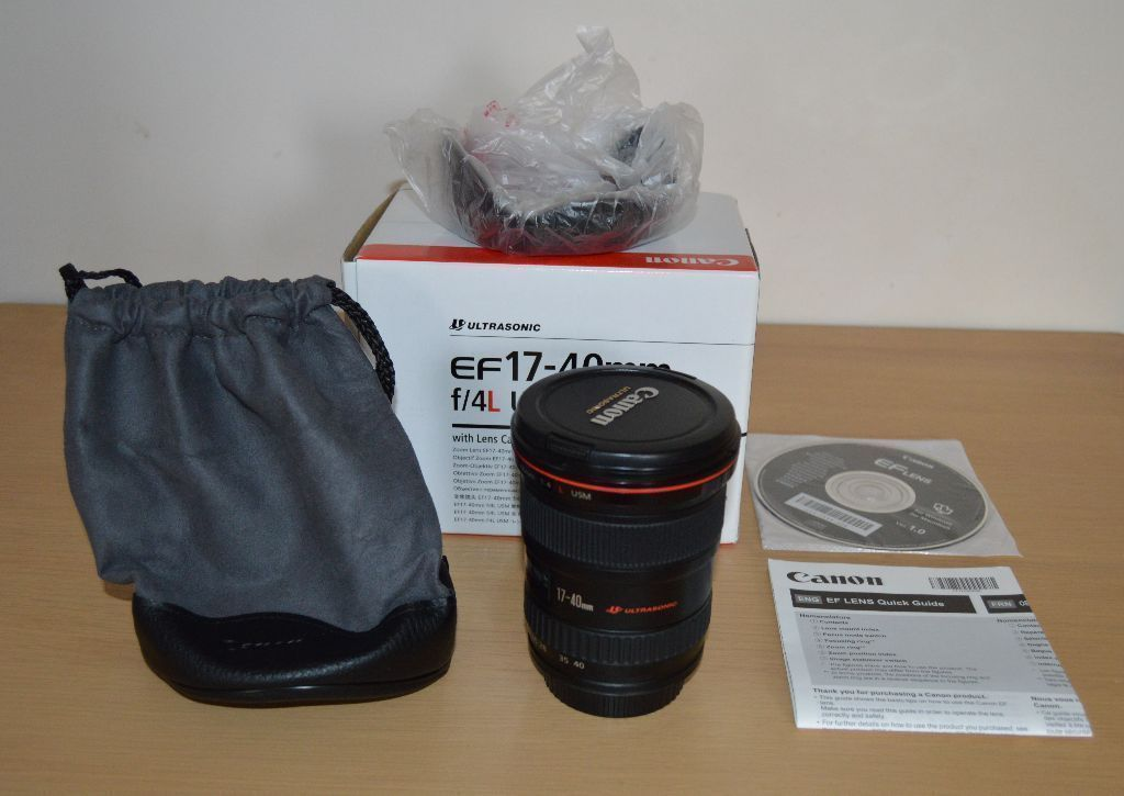 Canon EF 17-40mm F/4 L USM Lens. Boxed in Excellent Condition. in  Cambridge