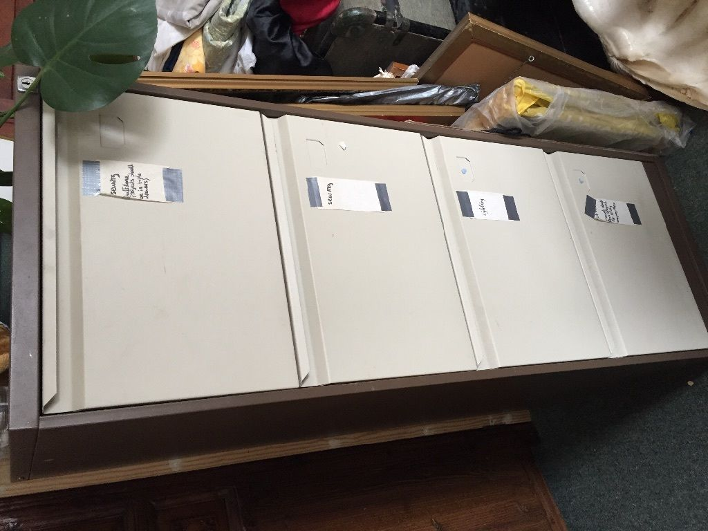 Brown/Beige metal 4 drawer filing cabinet in  Cambridge