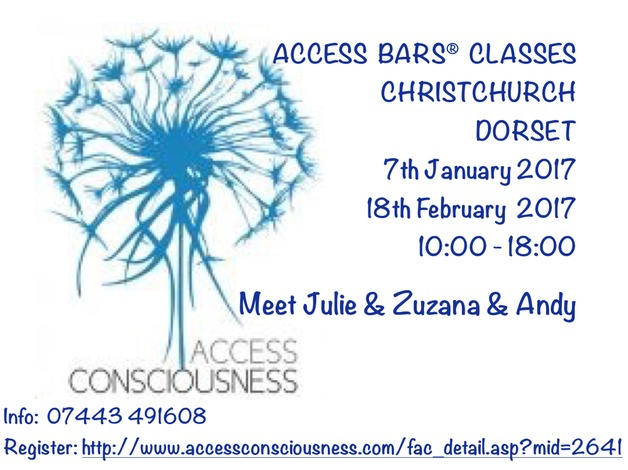 ACCESS BARS Classes Christchurch in 2017  in Christchurch