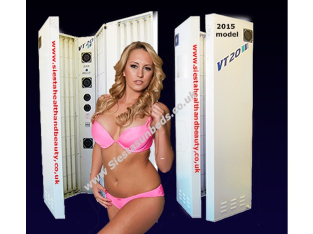 Stand up Sunbed VT20 20 tube Vertical with 240watt tubes - As new condition was ex-demo model! in