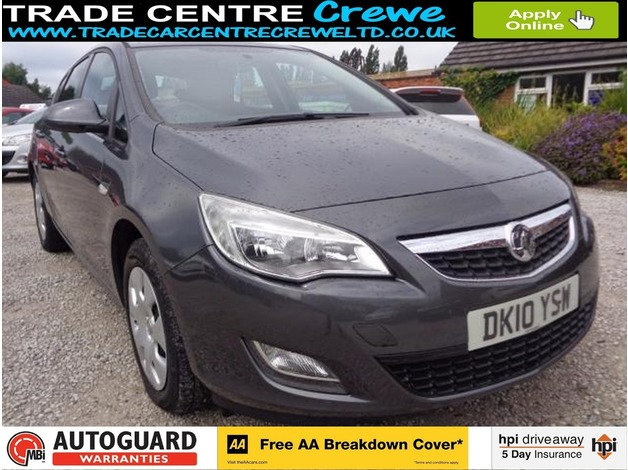 2010 10 VAUXHALL ASTRA 1.4 EXCLUSIV 5D 98 BHP - NO DEPOSIT LOW RATE CAR FINANCE AVAILABLE in Crew