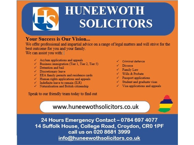 HUNEEWOTH SOLICITORS in Croydon
