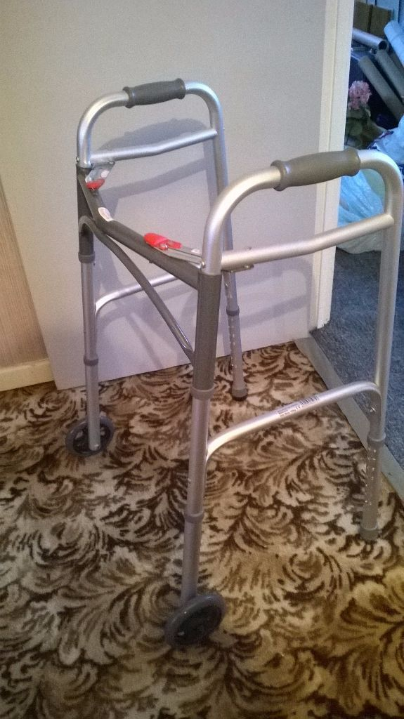 Excellent condition easy fold zimmer/walking frame. Mobility/ elderly/disability aid in 