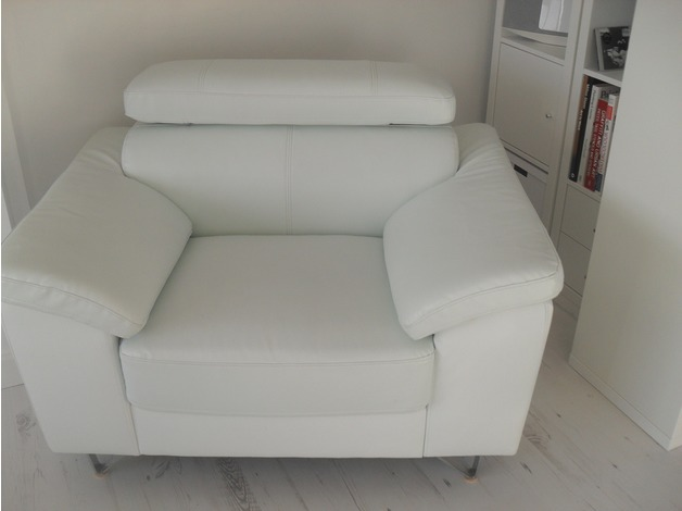 White leather arm chairs in Driffield	 - 1