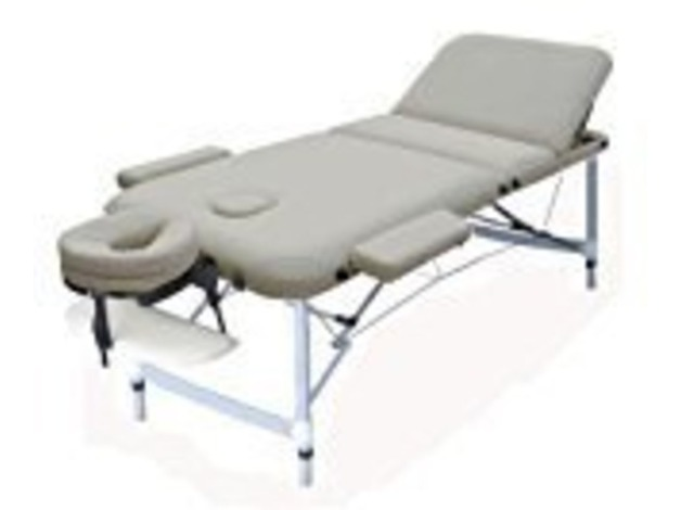 New (Unused) Cream Folding Portable Massage Table Couch Bed - Rounded Table Corners in Eastleigh