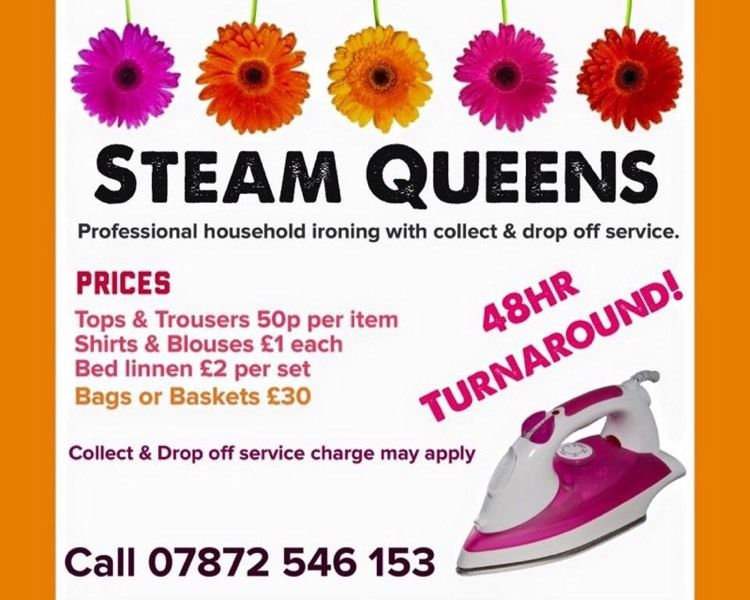 SteamQueens ironing services in 