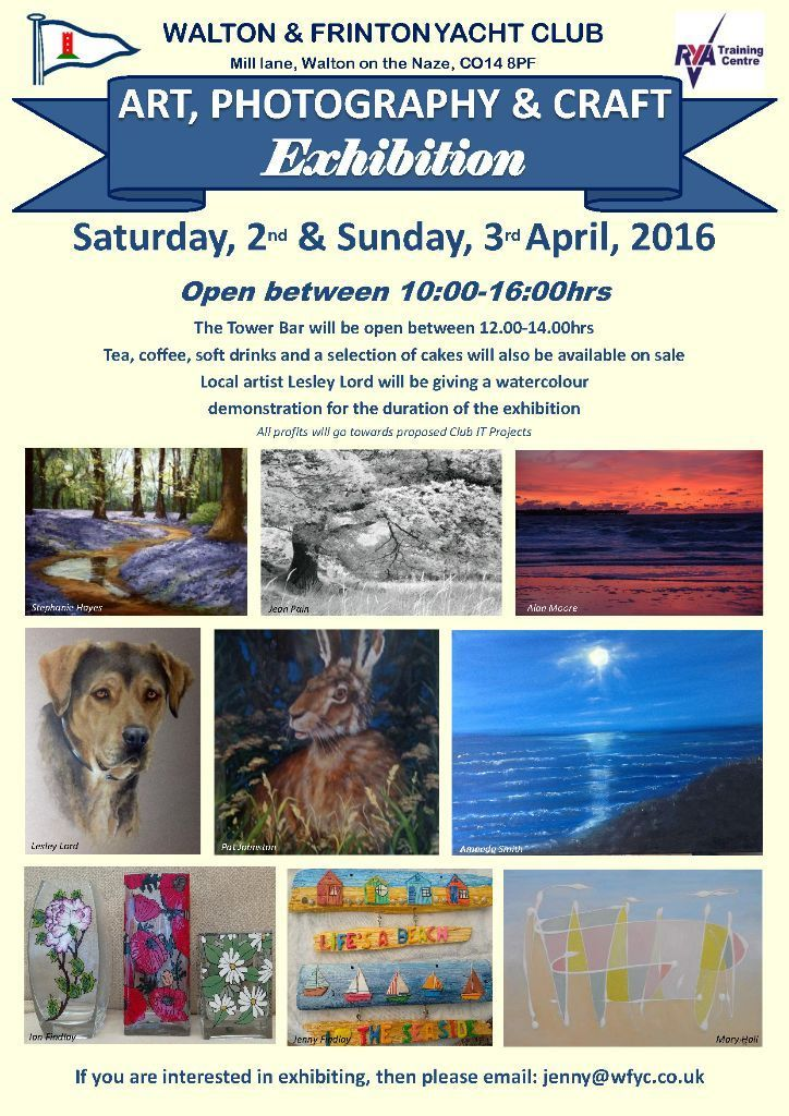 Art, Photography and Crafts Exhibition - Walton & Frinton Yacht Club - 2-3 April 2016 in 
