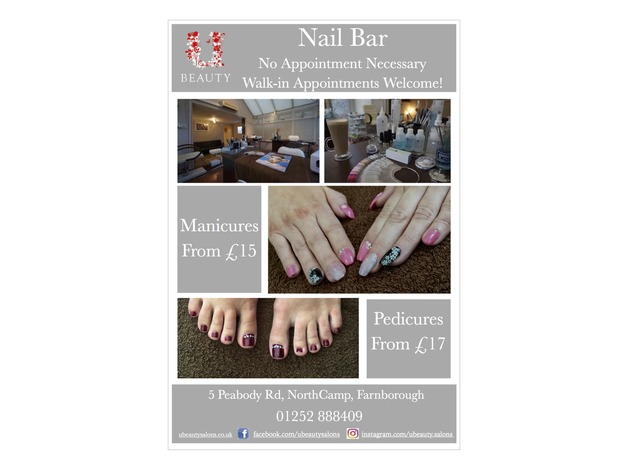 Nail Services Available at U:Beauty in Farnborough