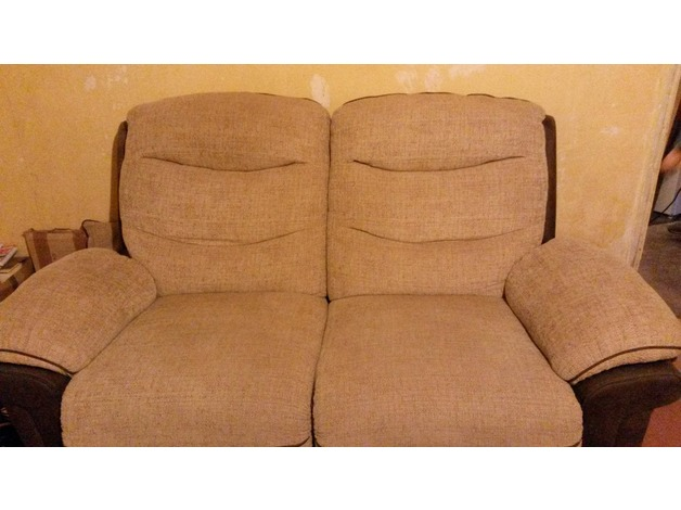 2 seater electric reclining sofa, 3 seater manual reclining sofa and matching storage footstool i - 1