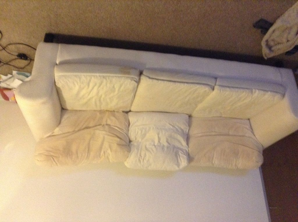 Well & truly used 3 seat Ikea ektorp without cover in  Whiteinch