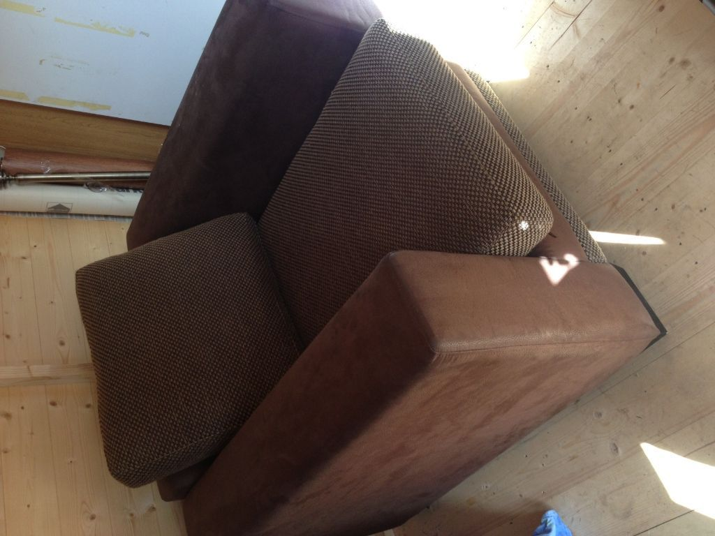 Brown Single Sofa with cushion Large DFS Single Seater Sofa in 