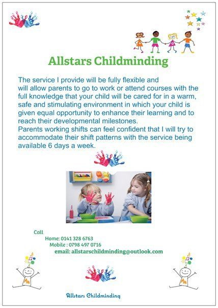 Registered childminder, flexible childcare in a happy, safe and nuturing home from home setting in