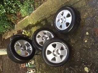 Ford Fiesta Zetec Alloy wheels (x4) with 3 Brand new tyres . in 