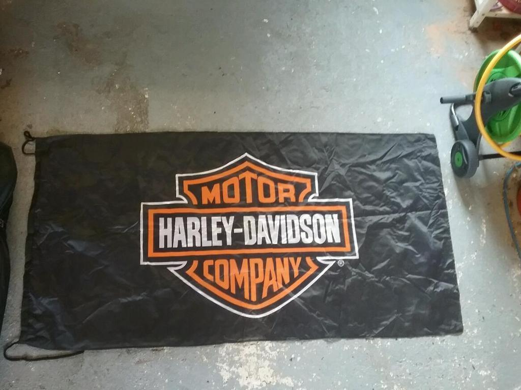 Harley davidson flag in 