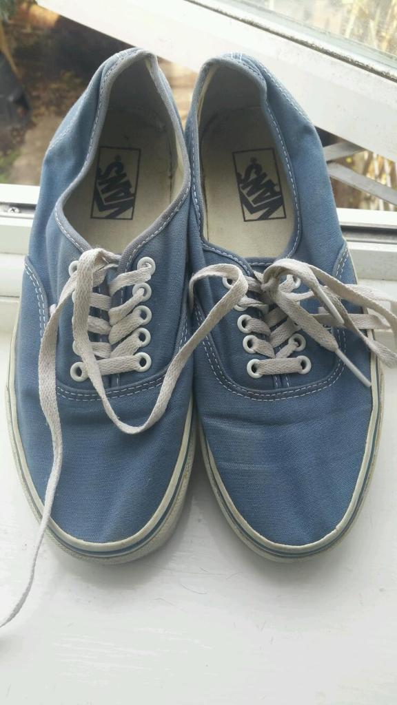 Size 40.5 blue Vans shoes in a good condition in  Southsea